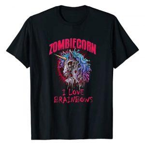 BDAZ Zombie Unicorn Graphic Tshirt 1 Zombie Unicorn I Love Brainbows Funny Gothic Adult Child T-Shirt