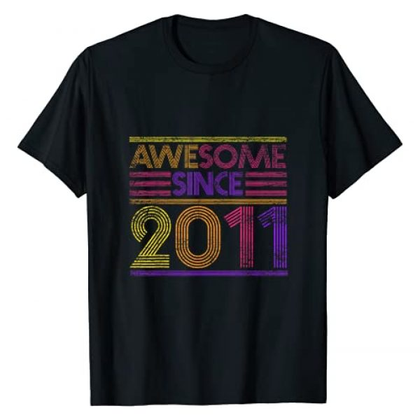 Vintage Birthday Gifts Awesome Since Anniversary Graphic Tshirt 1 10th Birthday Gifts Boys Girls - Awesome Since 2011 T-Shirt