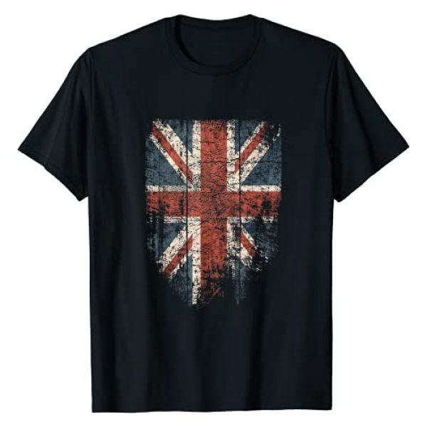 Superdazzle United Kingdom Graphic Tshirt 1 Union Jack Tshirt Women Men   Cool Vintage UK British Flag T-Shirt