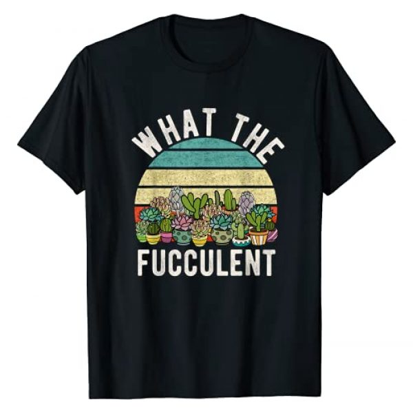 Retro Gardening Funny Gifts for Cactus Lovers Graphic Tshirt 1 What the Fucculent Retro Cactus Succulent Pun Gardening Fun T-Shirt