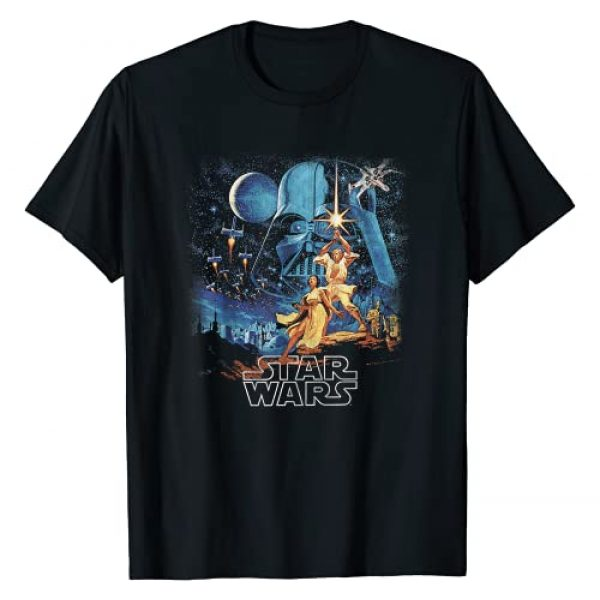 Star Wars Graphic Tshirt 1 A New Hope Faded Vintage Poster Graphic T-Shirt T-Shirt
