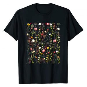 Floral Graphic Tee Graphic Tshirt 1 Vintage Inspired Flower Botanical Graphic T-Shirt