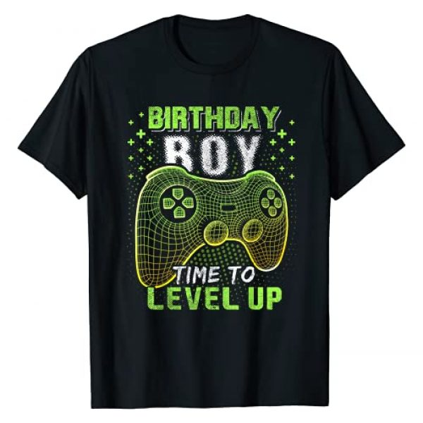 Birthday Gamer Shirts Graphic Tshirt 1 Birthday Boy Time to Level Up Video Game Birthday Gift Boys T-Shirt