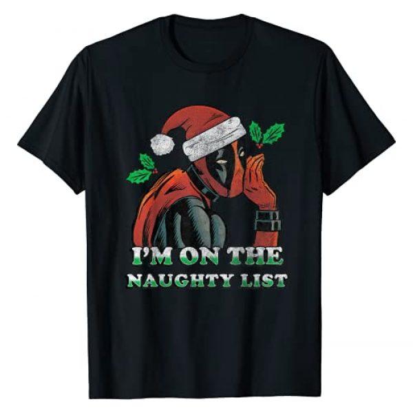 Marvel Graphic Tshirt 1 Deadpool Santa Secret Naughty List Christmas T-Shirt T-Shirt
