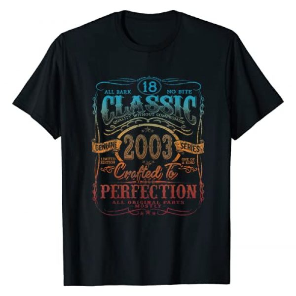 Vintage Birthday 2021 LIMITED EDITION Tees Graphic Tshirt 1 Vintage 2003 Limited Edition Gift 18 years old 18th Birthday T-Shirt