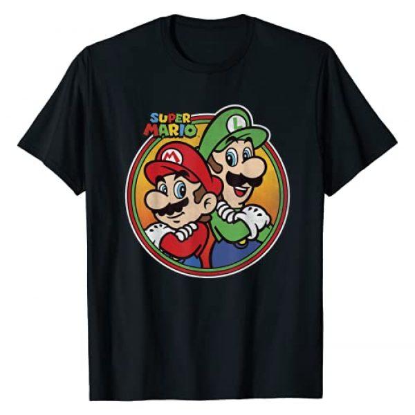SUPER MARIO Graphic Tshirt 1 Nintendo Super Mario & Luigi Brothers Circle Graphic T-Shirt T-Shirt