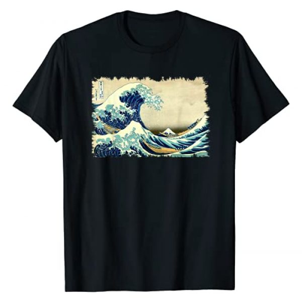 Smooth HQ Graphic Tshirt 1 Vintage Japanese Woodblock Art: Great Wave Stylish Design T-Shirt
