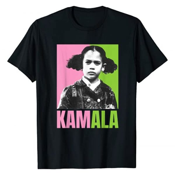Kamala Harris Picture Little Girl Apparel Graphic Tshirt 1 Kamala Harris Picture As A Little Girl Pink And Green T-Shirt