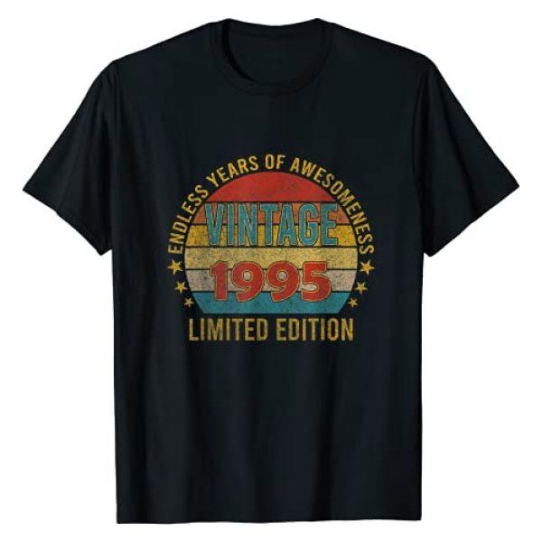 Retro Vintage Limited Edition 2021 Birthday Gift Graphic Tshirt 1 26 year old 26th birthday Gift decorations 1995 Men Women T-Shirt
