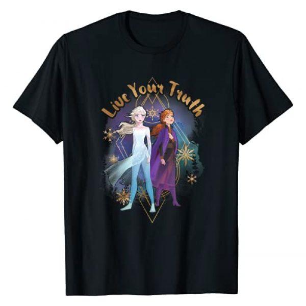 Disney Graphic Tshirt 1 Frozen 2 Elsa Anna Live Your Truth Geometric Portrait T-Shirt