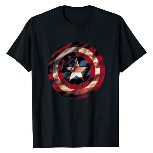 Marvel Graphic Tshirt 1 Captain America Avengers Shield Flag Graphic T-Shirt T-Shirt
