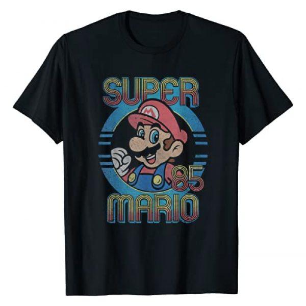 SUPER MARIO Graphic Tshirt 1 Nintendo Super Mario Retro Circle Vintage Graphic T-Shirt T-Shirt