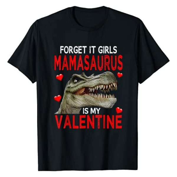 Valentines Day Dinosaur Gifts Graphic Tshirt 1 Boys Dinosaur Valentines Day Funny Forget It Girls Gift T-Shirt