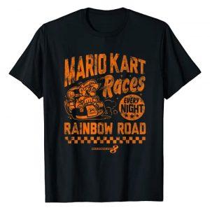 Mario Kart Graphic Tshirt 1 Nintendo Mario Kart Rainbow Road Vintage Graphic T-Shirt T-Shirt