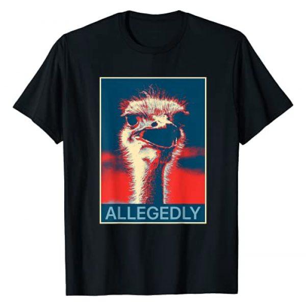 Allegedly Ostrich Shirts Graphic Tshirt 1 Allegedly Ostrich T Shirt Funny Bird Lover T-Shirt T-Shirt