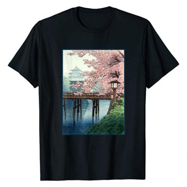 Japanese Cherry Blossom Art Graphic Tshirt 1 Japanese Cherry Blossom Japanese Woodblock Art T-Shirt