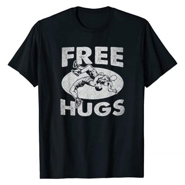 Wrestling Apparel By No1 Tees Graphic Tshirt 1 Wrestling Shirts - Funny Free Hugs Wrestling T-Shirt