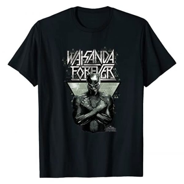 Marvel Graphic Tshirt 1 Black Panther Wakanda Forever Prism Patterned T-Shirt T-Shirt