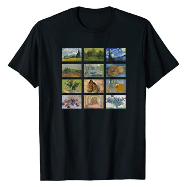 Smooth HQ Graphic Tshirt 1 Famous Vintage Art Van Gogh Classic Paintings Special Design T-Shirt