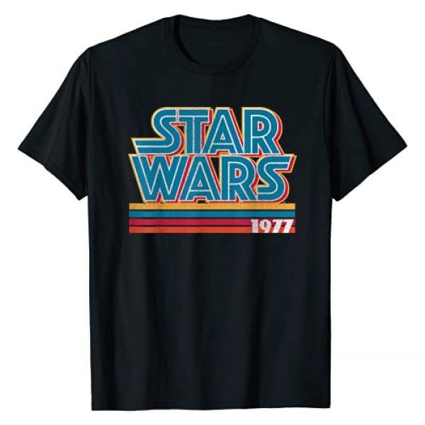 Star Wars Graphic Tshirt 1 Super Retro Striped Logo 1977 Graphic T-Shirt T-Shirt