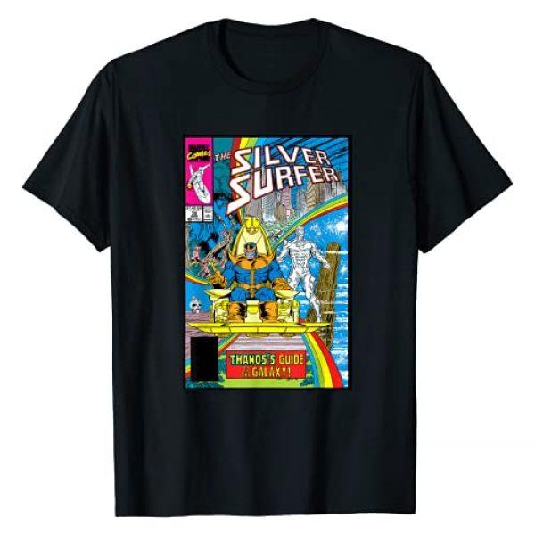 Marvel Graphic Tshirt 1 Silver Surfer Rainbow Thanos's Guide Comic Cover T-Shirt