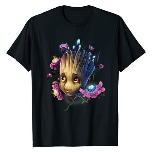 Marvel Graphic Tshirt 1 Guardians Of The Galaxy Groot Flowers Graphic T-Shirt T-Shirt