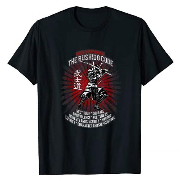 BUDO Graphic Tshirt 1 Samurai Bushido Code, Samurai Virtues, Ronin T-Shirt