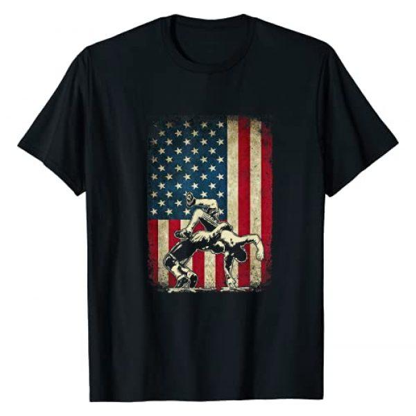 American Flag Wrestling Gift Graphic Tshirt 1 American Flag Wrestling - Cool USA Wrestle Gift Tee for Fans T-Shirt