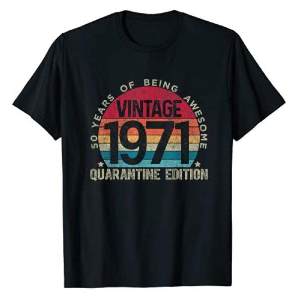 Retro Birthday Quarantine Edition Shirts By Hannah Graphic Tshirt 1 50th Birthday Retro Limited Edition 1971 Quarantine Birthday T-Shirt