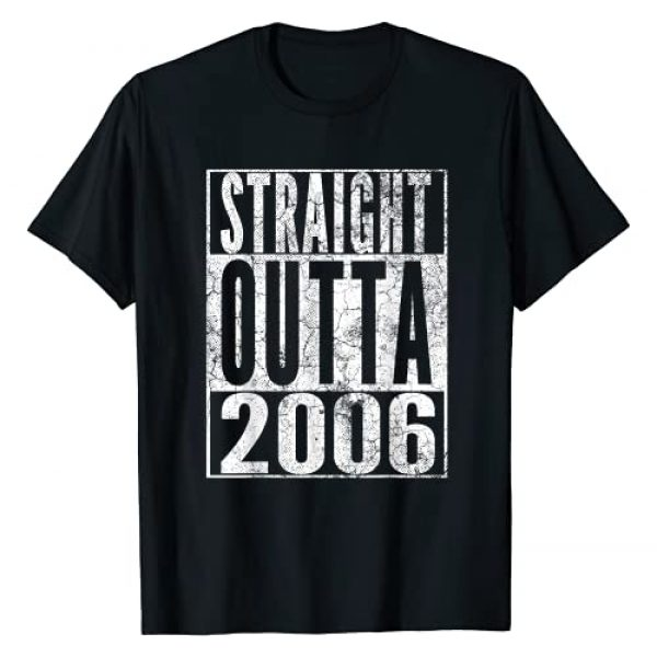 2006 15th Birthday Gift 15 Years Of Being Awesome Graphic Tshirt 1 Straight Outta 2006 15th Birthday Gift 15 Years Old Boy Girl T-Shirt