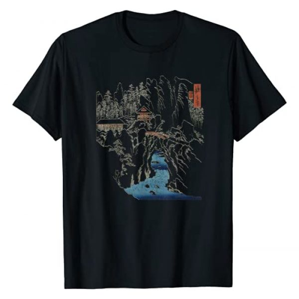 "Smooth HQ Graphic Tshirt 1 Famous Vintage Japanese Art ""Kozuke Province: Mount Haruna"" T-Shirt"