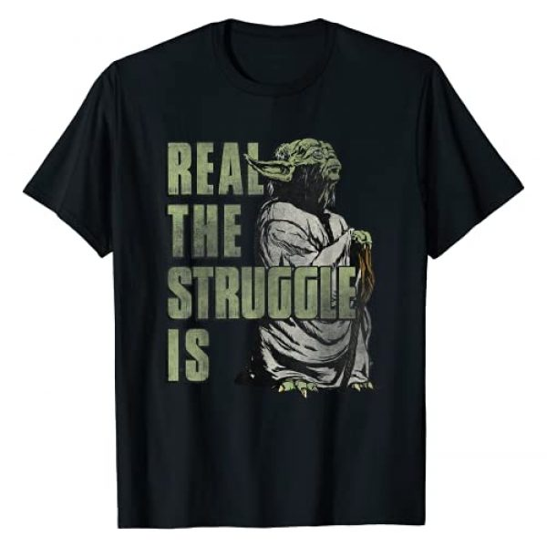 Star Wars Graphic Tshirt 1 Yoda Real The Struggle Is Graphic T-Shirt T-Shirt