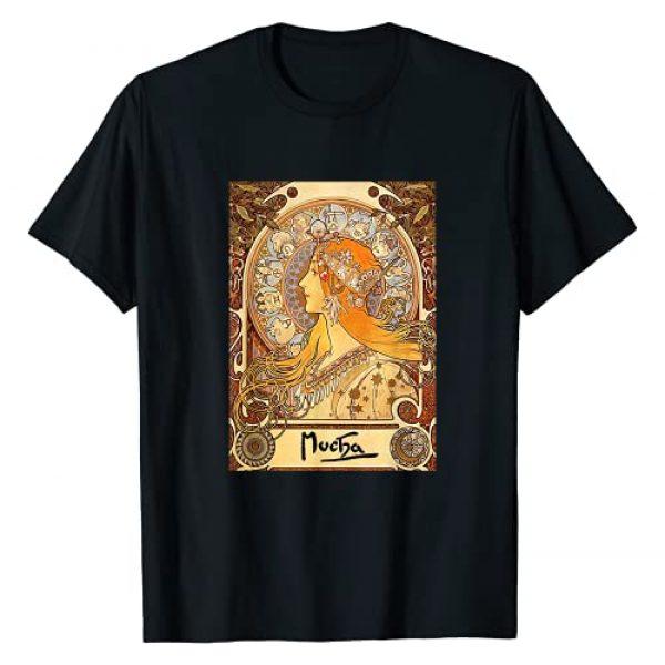 Great Paintings Shirt Designs Graphic Tshirt 1 Alphonse Mucha | Zodiac | Art Nouveau T-Shirt