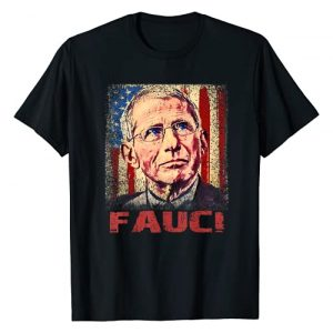 We Trust In Science Dr. Anthony Fauci Graphic Tshirt 1 We Trust In Science Dr Fauci Support Team, Vintage USA Flag T-Shirt