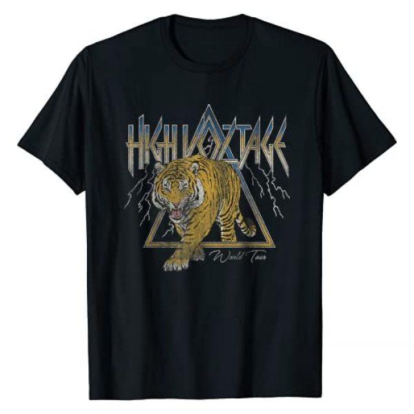 Pop Cult Tees Graphic Tshirt 1 High Voltage Tiger Vintage Retro Rock Music Band Concert T-Shirt