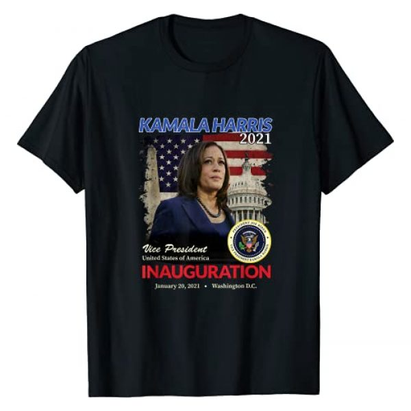 Inauguration Day 2021 Merchandise Graphic Tshirt 1 2021 Inauguration Day Kamala Harris Commemorative Souvenir T-Shirt