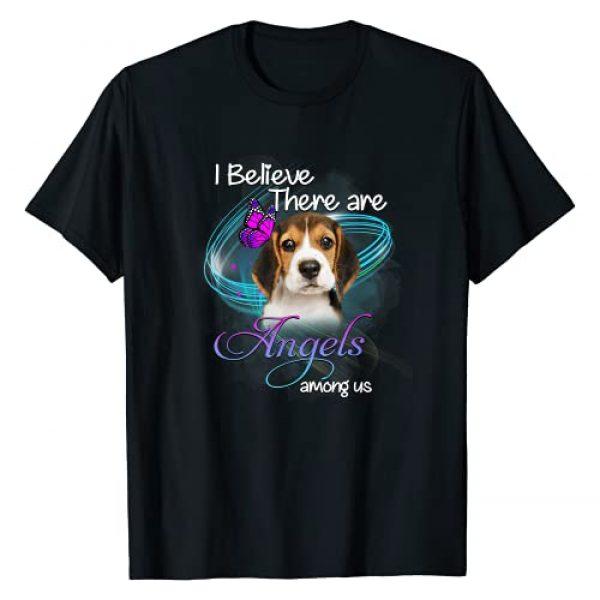 Dogs Like Angels Graphic Tshirt 1 Beagle Dog - An Angel Among Us T-Shirt
