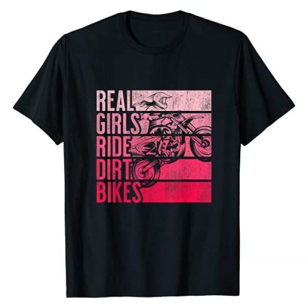 Vintage Girls Dirt Bike Retro Racing Apparel Graphic Tshirt 1 Real Girls Ride Dirt Bikes Motocross Lovers Gift T-Shirt