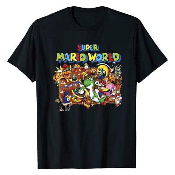 SUPER MARIO Graphic Tshirt 1 World Retro Map Graphic T-Shirt T-Shirt