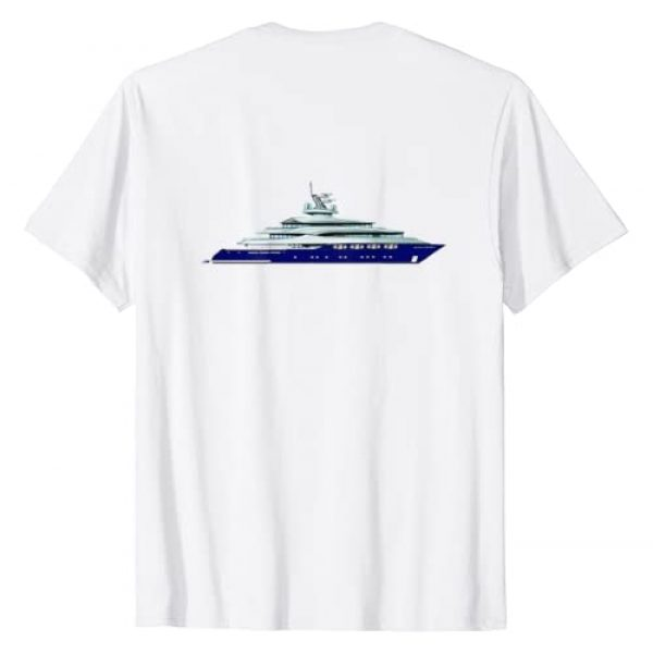 Sirocco Captain Below Shirts Ink Graphic Tshirt 2 Sirocco below the deck shirt Updated with Boat on Back Side T-Shirt