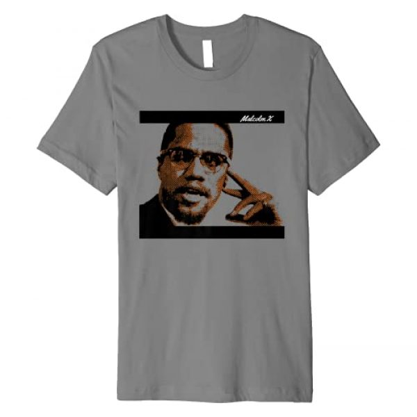 Historic Black America Graphic Tshirt 1 Malcolm Civil Rights America X Premium T-Shirt