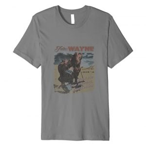 John Wayne Graphic Tshirt 1 Fighting Courage Premium T-Shirt