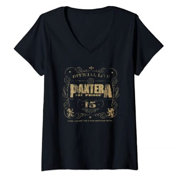 Unknown Graphic Tshirt 1 Womens Pantera Official 101 Proof V-Neck T-Shirt