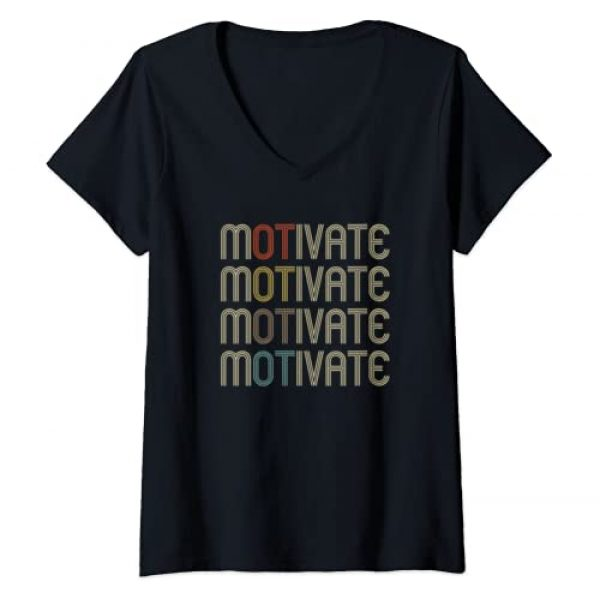 Occupational Therapy T Shirts for OT Gifts Graphic Tshirt 1 Womens Motivate Occupational Therapy OT Therapist Gift V-Neck T-Shirt