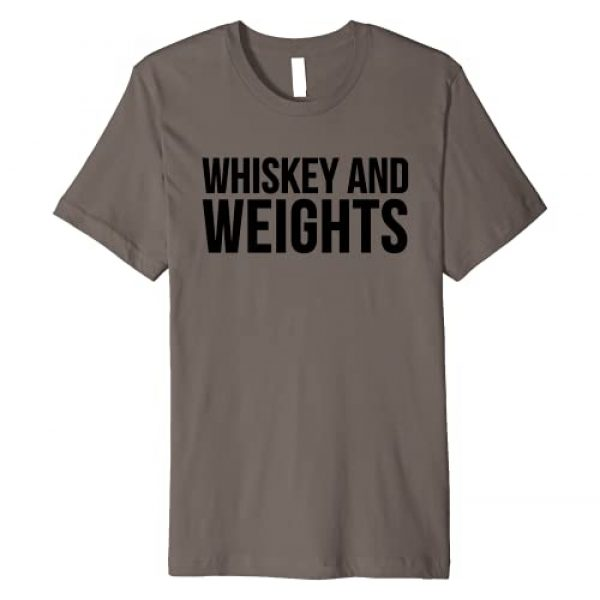 Whiskey And Weights Graphic Tshirt 1 Whiskey Lover Funny Gift - Whiskey And Weights Premium T-Shirt