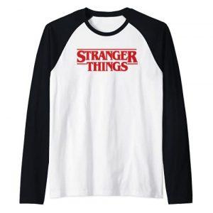 Stranger Things Graphic Tshirt 1 Netflix Stranger Things Simple Red Logo Raglan Baseball Tee