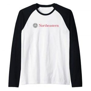 Venley Graphic Tshirt 1 NU Northeastern University Huskies NCAA PPNEU07 Raglan Baseball Tee