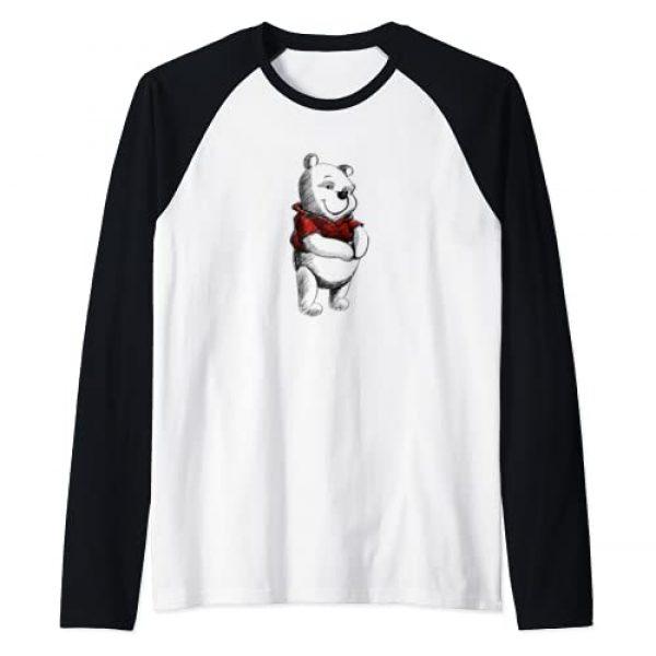 Disney Graphic Tshirt 1 Winnie the Pooh Sketch Raglan Baseball Tee