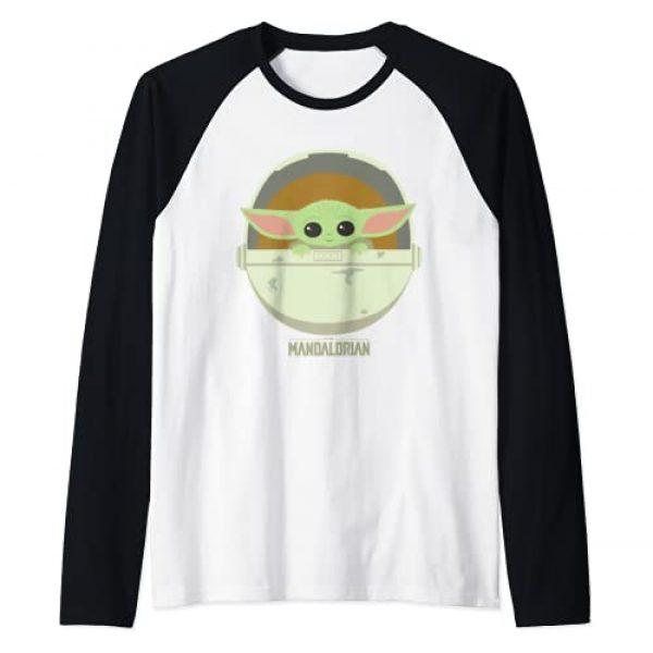 Star Wars Graphic Tshirt 1 The Mandalorian The Child Bassinet Portrait Raglan Baseball Tee
