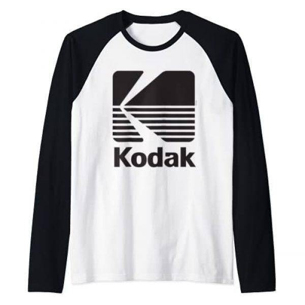 KODAK Graphic Tshirt 1 80's Vintage Kodak Logo - Black Raglan Baseball Tee
